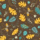 Configuration d'automne de Brown illustration libre de droits
