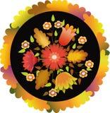 Configuration d'automne en cercle Photos stock