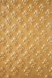 Configuration d'or de fleur de lys Photographie stock libre de droits