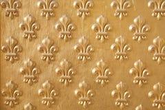 Configuration d'or de fleur de lys Images libres de droits