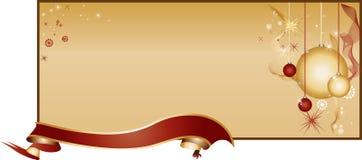 Configuration d'or de fond de Noël Image stock