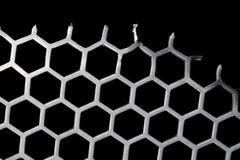 Configuration d'hexa de fond en métal Photographie stock libre de droits