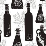 Configuration d'huile d'olive illustration stock