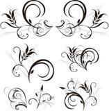 configuration d'ornements floraux de conception Image libre de droits