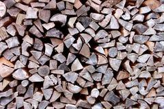 Configuration de bois de chauffage Photographie stock