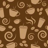 Configuration de café de Brown foncé Images libres de droits