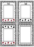 Configuration de carte de fleur Photographie stock