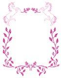 Configuration de cheval et de fleur Image stock