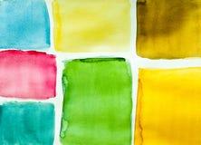Configuration de couleur d'eau Photo stock