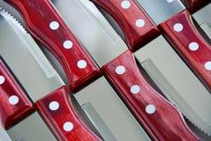 Configuration de couteaux de bifteck photo libre de droits