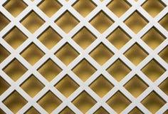 Configuration de diagonale d'or Photo libre de droits