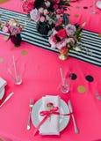 Configuration de fête de table Photographie stock libre de droits