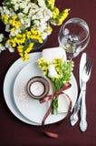 Configuration de fête de table dans le brun Photographie stock