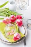 Configuration de fête de table de source Photo libre de droits