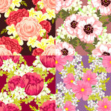 Configuration de fleur Photo libre de droits