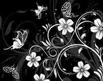Configuration de fleur abstraite Photos libres de droits