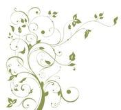 Configuration de fleur et d'arbre Images stock