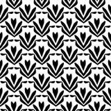 Configuration de fleur modèle floral sans couture noir et blanc, texture géométrique illustration de vecteur