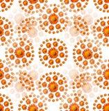 Configuration de fleur orange Image libre de droits