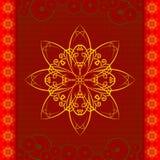 Configuration de fleur orientale illustration de vecteur