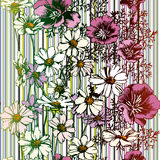 Configuration de fleur sans joint illustration de vecteur