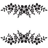 Configuration de fleur sur le fond blanc Élément ornemental Photographie stock libre de droits