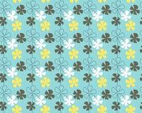 Configuration de fleurs bleue Images libres de droits