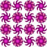 Configuration de fleurs sans joint géométrique Images libres de droits