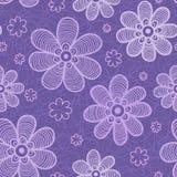 Configuration de fleurs violette Photo libre de droits