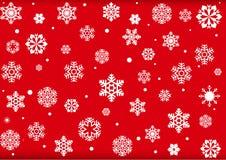 Configuration de flocon de neige de fond de Noël Photo libre de droits