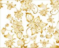 Configuration de fond de fleur d'or Photos stock