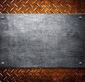 Configuration de fond en métal Photographie stock