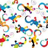 Configuration de Gecko illustration stock