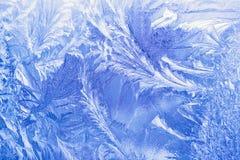 Configuration de glace sur un hublot Photographie stock libre de droits