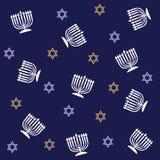 configuration de hanukkah illustration stock