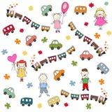 Configuration de jouets Images libres de droits