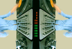 Configuration de la femelle géniale DJ Image libre de droits