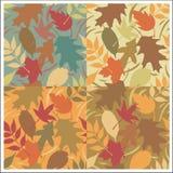 Configuration de lames d'automne Illustration Stock