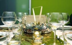 Configuration de luxe de table de célébration Images libres de droits