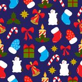 configuration de Noël sans joint Photographie stock