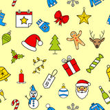 configuration de Noël sans joint Image stock