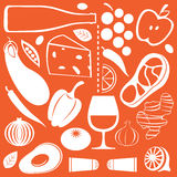 Configuration de nourriture Photo stock