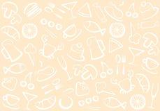 Configuration de nourriture et de boissons illustration stock