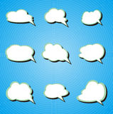 Configuration de nuage illustration stock