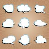 Configuration de nuage illustration libre de droits