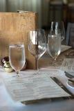 Configuration de place de restaurant Photo libre de droits