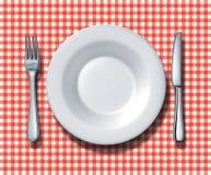 Configuration de place de restaurant de famille Photo stock