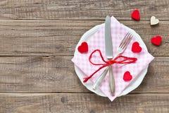 Configuration de place pour le jour de valentines Photos libres de droits
