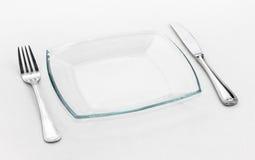 Configuration de place pour une personne : couteau, glace carrée Image libre de droits