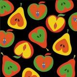 Configuration de pommes et de poires Photo libre de droits